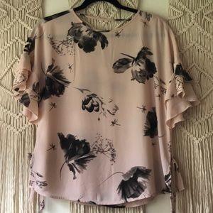 Express floral chiffon blouse